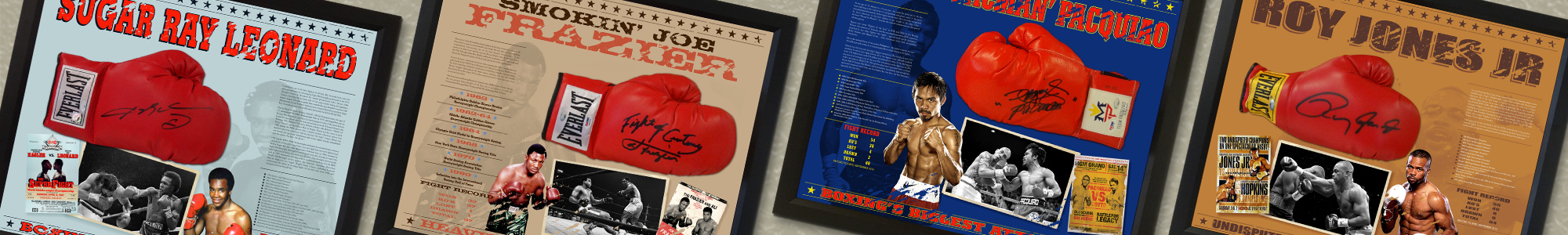 Custom Boxing Glove Framing