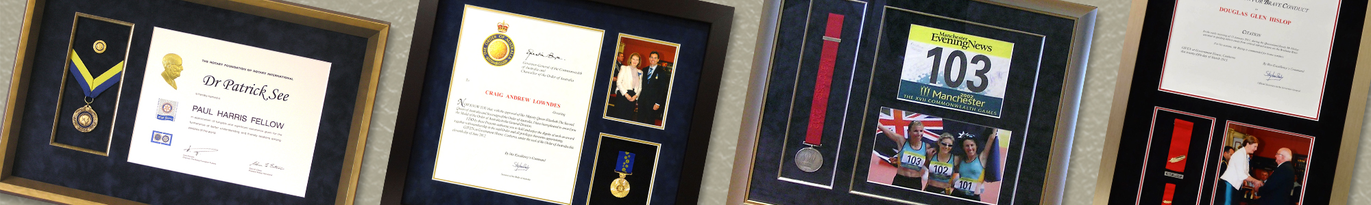 Sporting and Personal Achievement Medal Framing