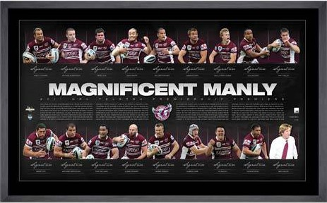 2011 Manly NRL Premiership Team Signed Lithograph