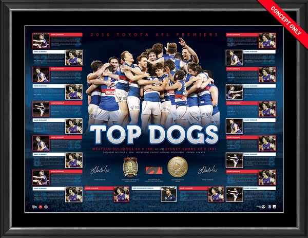 SOLD OUT! 2016 Western Bulldogs Premiership Dual Signed Lithograph