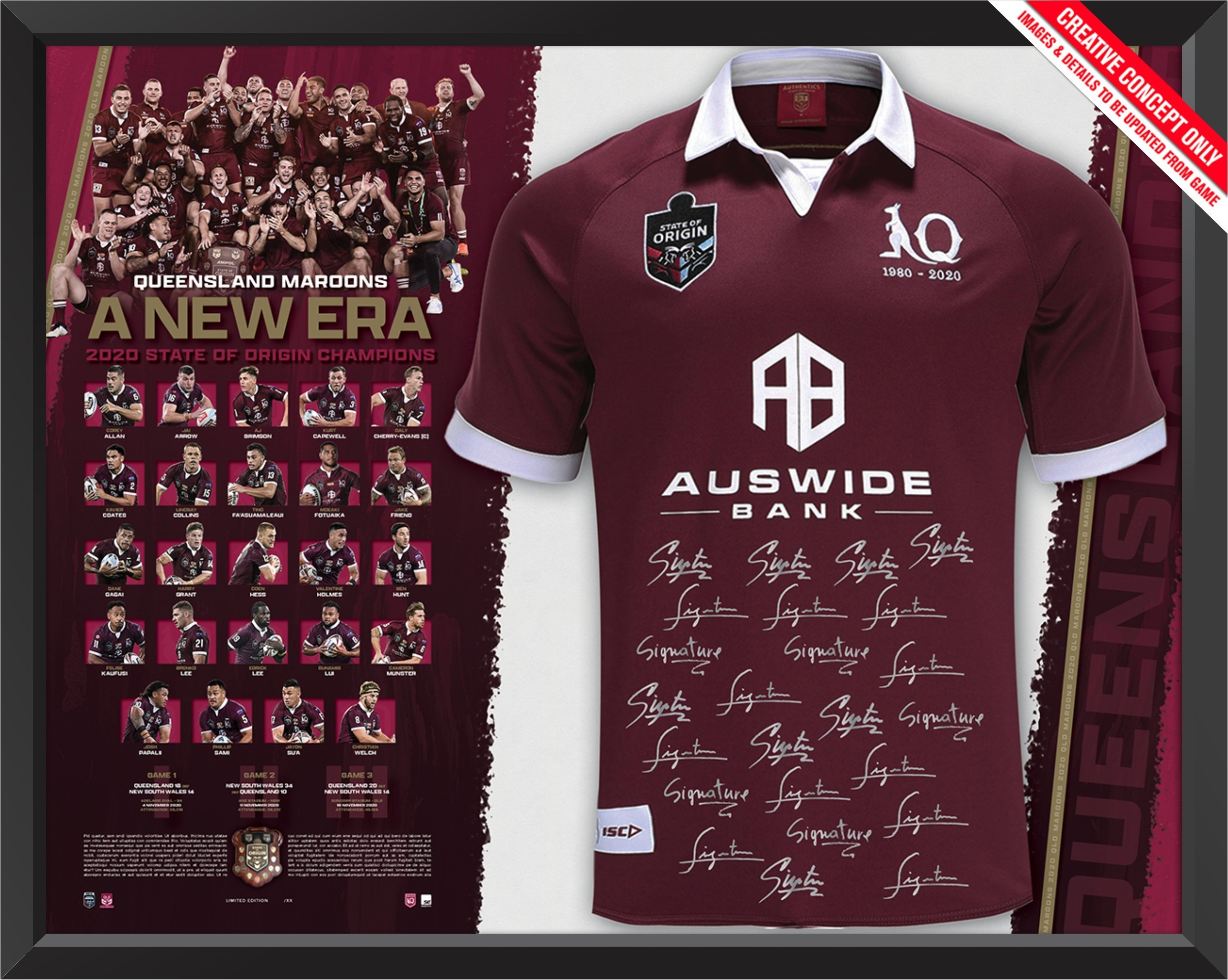 Queensland 2020 State of Origin Jersey - A New Era