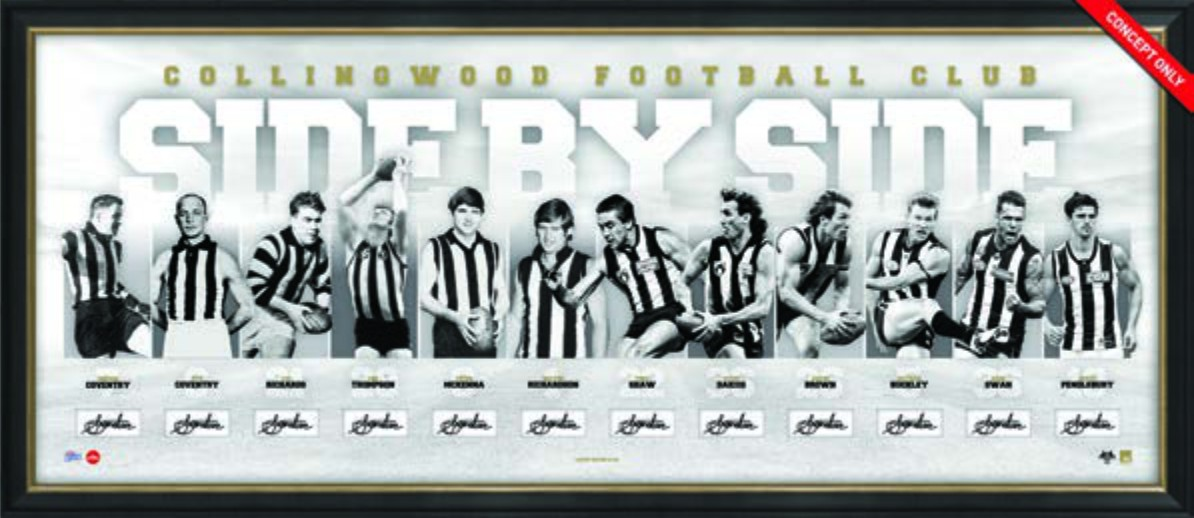 SOLD OUT! Side by Side Collingwood Limited Edition