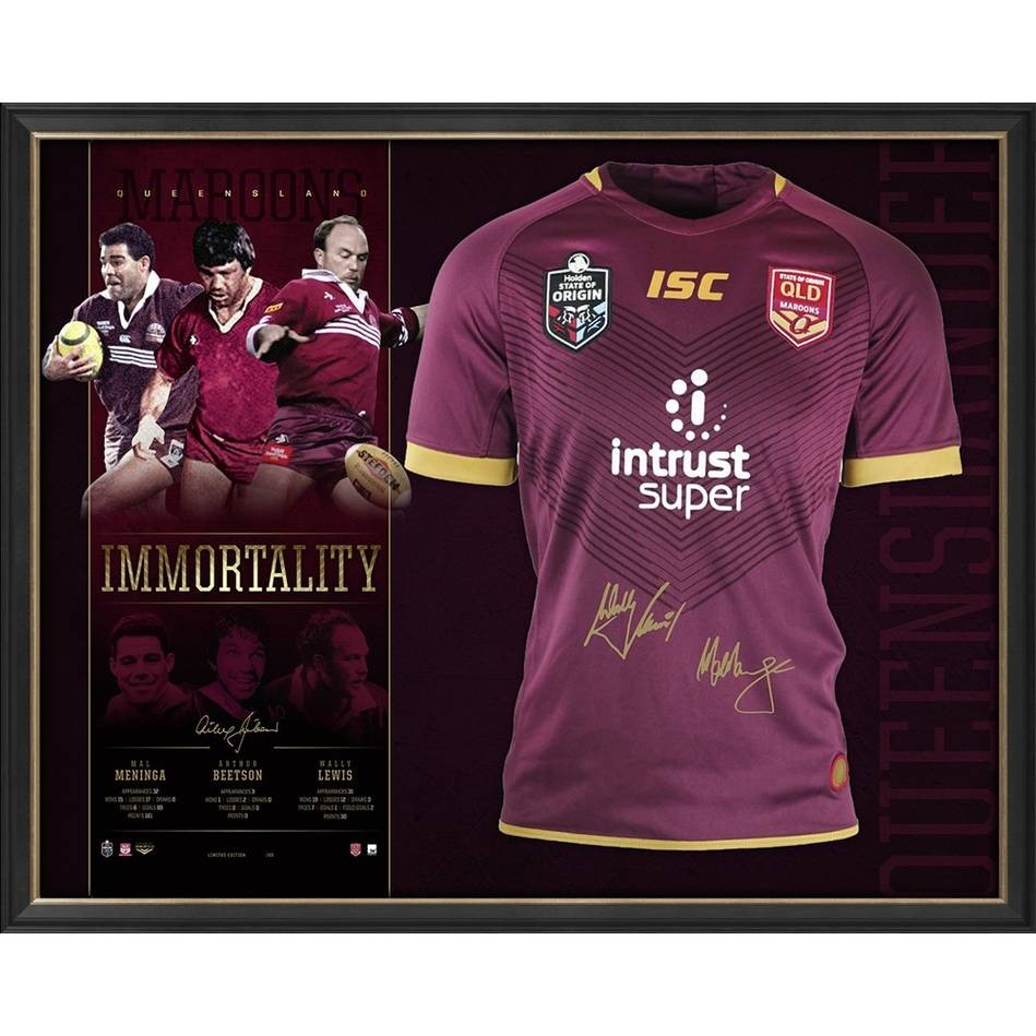 "SOLD OUT! Queensland Maroons Signed ""Immortality"""