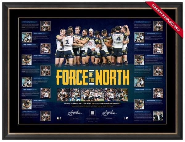 39b959c4677 North Qld Cowboys - Force of the North Premiership Limited Edition Signed  Print
