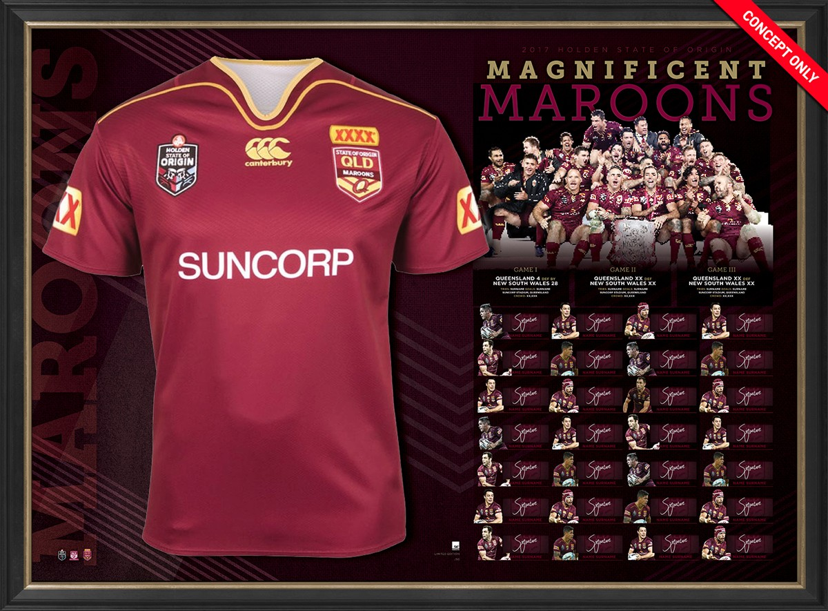 2017 Queensland State of Origin Limited Edition Team Jersey