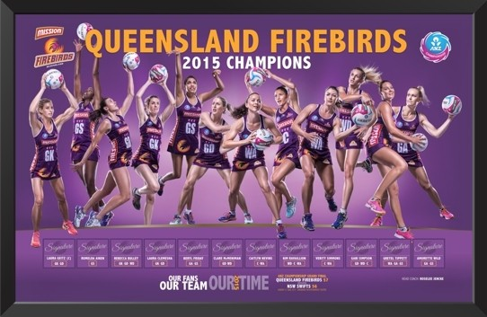 Queensland Firebirds -2015 Champions Limited Edition Print