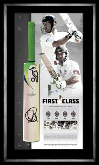 Ricky Ponting - First Class Limited Edition Signed Retirement Cricket Bat