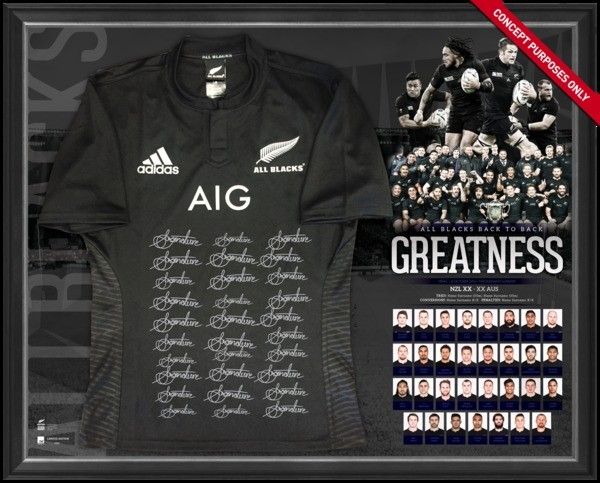SOLD OUT! All Blacks 2015 World Champions Team Jersey
