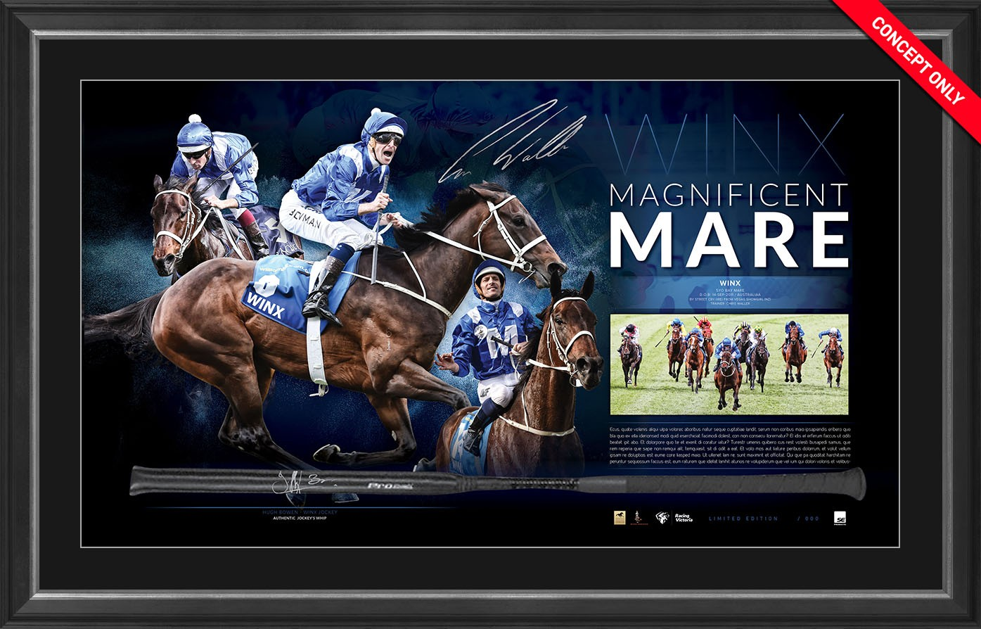 Winx Magnificent Mare Whip Display
