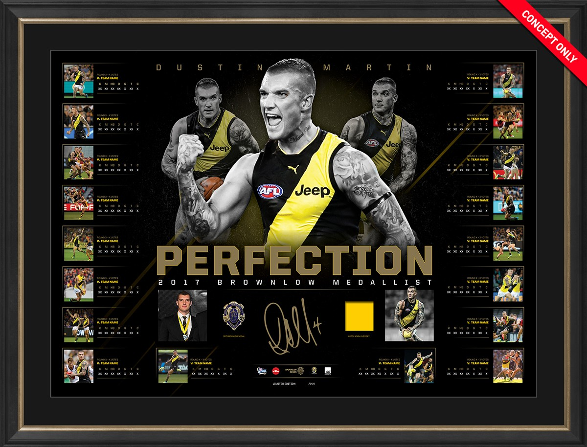 SOLD OUT! Perfection - Dustin Martin 2017 Brownlow Medal Lithograph