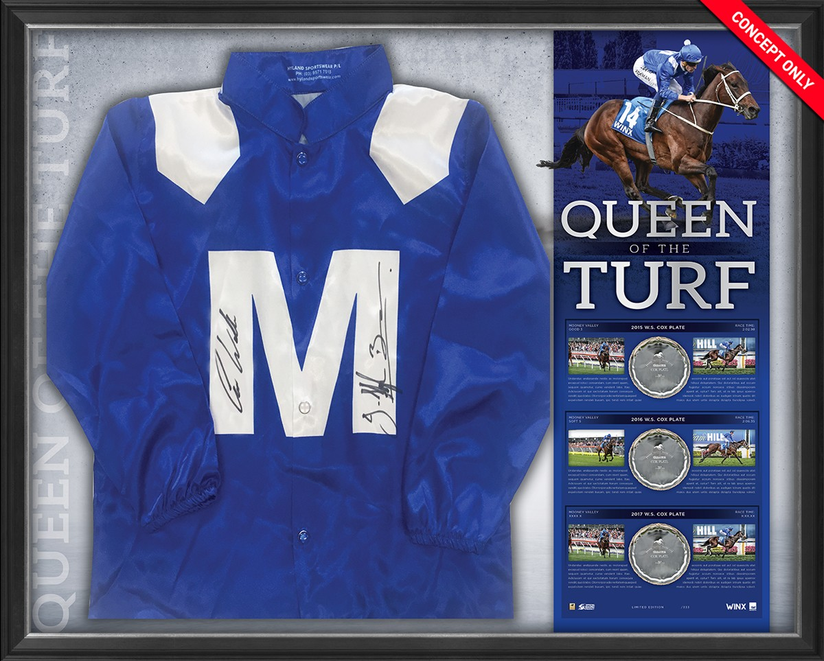 Winx Queen of the Turf - Dual Signed Silks