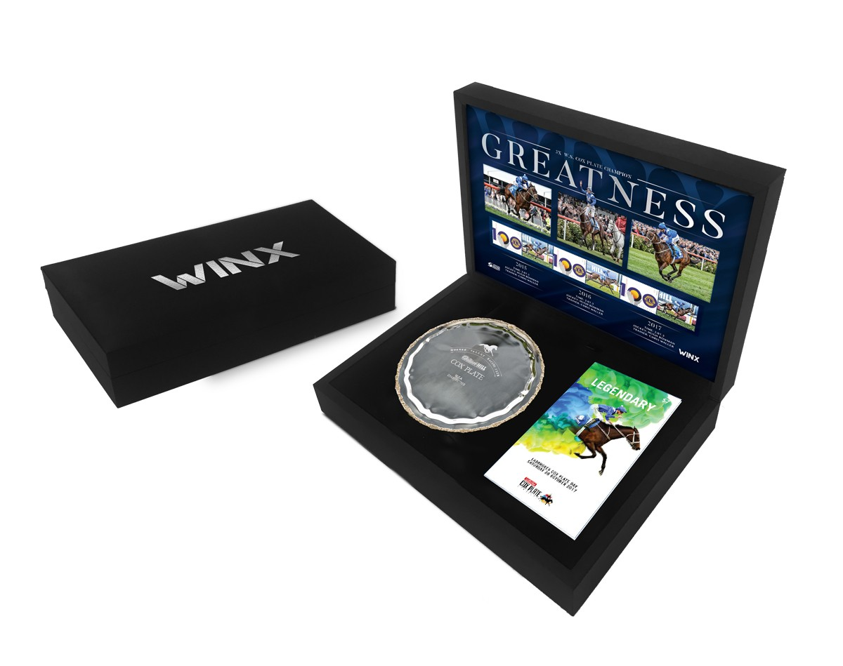 SOLD OUT! Greatness - Replica Boxed Cox Plate with Racebook