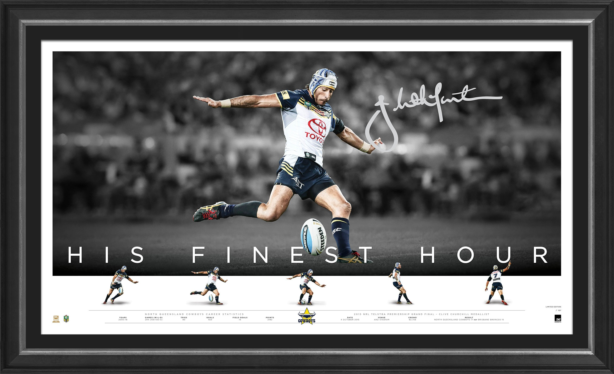 "Johnathan Thurston Signed ""His Finest Hour"""