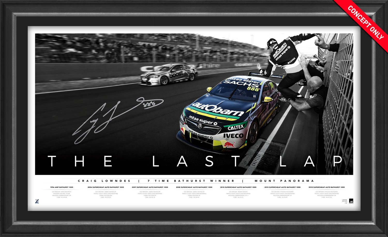 "SOLD OUT! Craig Lowndes Signed ""The Last Lap"" Limited Edition"