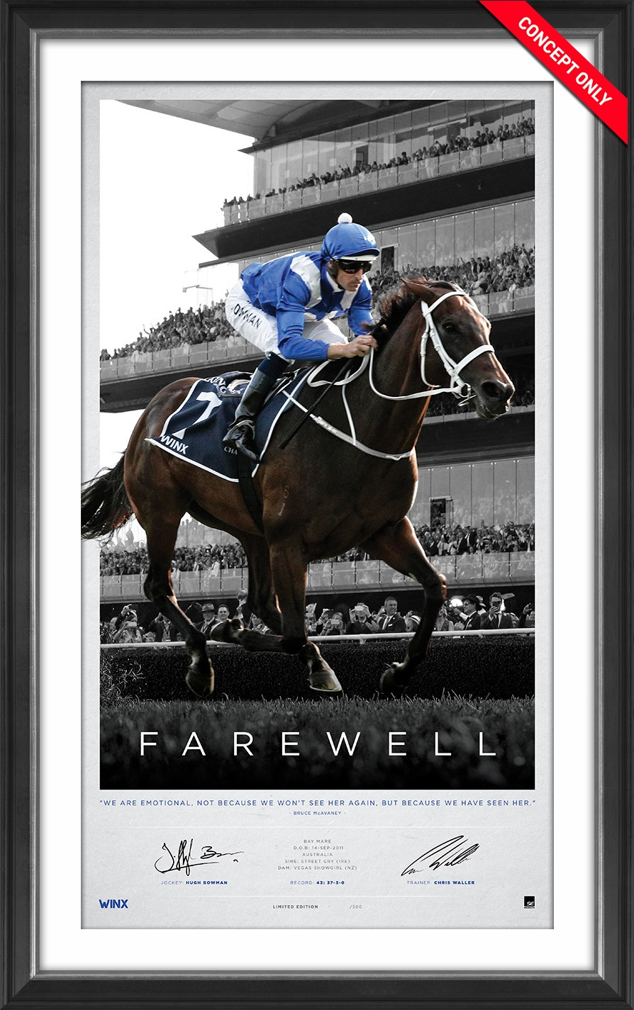 "Winx ""Farewell"" Limited Edition Print SOLD OUT!"