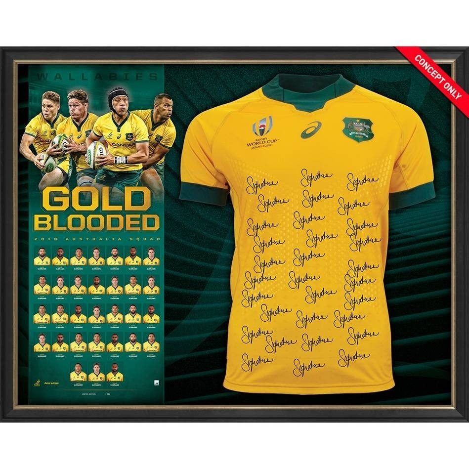 Gold Blooded - 2019 Rugby World Cup Australian Wallabies Jersey