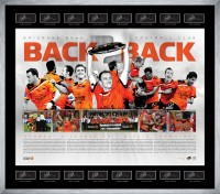 Brisbane Roar Football Club - Back to Back Champions 2012 Lithograph