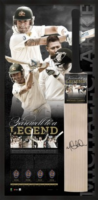 SOLD OUT! Farewell to a Legend Michael Clarke Retirement Bat