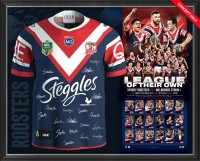 "Sydney Roosters 2018 NRL Premiership Team Signed ""League of their own"" Jersey"