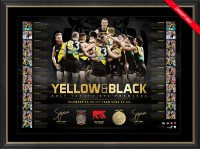 SOLD OUT! Yellow and Black - 2017 Richmond Tigers Premiers Dual Signed Lithograph