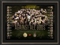 Richmond 2019 Premiers Dual Signed Lithograph - Against all Odds