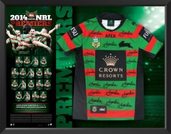 2014 South Sydney Rabbitohs Team Signed Premiers Jersey