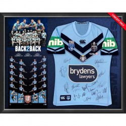"NSW Blues 2019 State of Origin Team Signed ""Back 2 Back"""