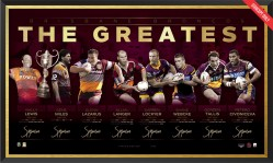 Brisbane Broncos Hall of Fame Lithograph
