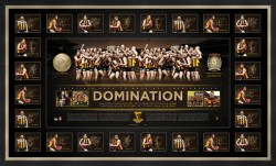 "Sold out! Hawthorn ""Back to Back"" Team Signed Premiers Lithograph"