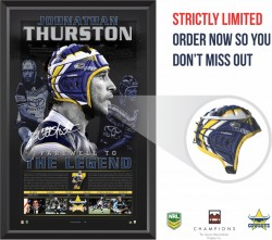 Johnathan Thurston Farewell to a Legend Headgear Display
