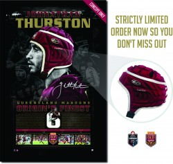 SOLD OUT! Johnathan Thurston - Origin's Finest - Headgear Display