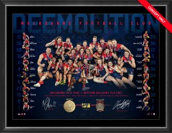 SOLD OUT! Melbourne Demons Premiers Dual Signed Lithograph
