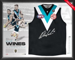 Ollie Wines 2021 Signed Brownlow Medal Guernsey