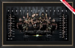 Penrith Panthers 2021 Premiers Dual Signed Lithograph