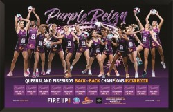 Purple Reign - 2016 Queensland Firebirds Signed Print