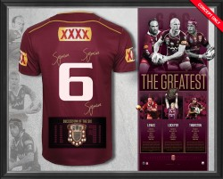 SOLD OUT! The Greatest - Deluxe Triple Signed Maroons #6 Jersey