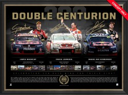 Double Centurion signed by Whincup, Lowndes and Van Gisbergen