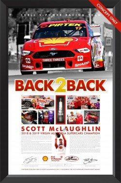 "Scott McLaughlin ""Back2Back"" Race Used Spark Plug Display"