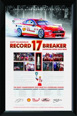 Scott McLaughlin Record Breaker 17 Spark Plug Display