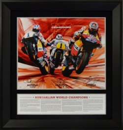 SOLD OUT! Gardner, Doohan and Stoner Australian Motorcycle World Champions