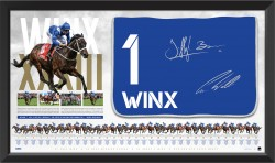 SOLD OUT! Winx Dual Signed Saddle Cloth Display