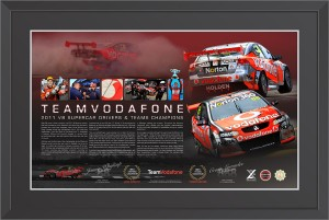 Team Vodafone - 2011 V8 Supercar Championship Memorabilia - Whincup and Lowndes