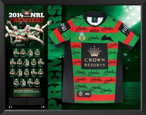 SOLD OUT! 2014 South Sydney Rabbitohs Team Signed Premiers Jersey
