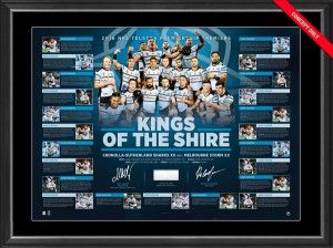 SOLD OUT! 2016 Cronulla Sharks Dual Signed Premiers Lithograph