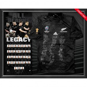 Legacy - 2019 RWC All Blacks Squad Signed Jersey Display