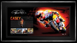 Sold out! Casey Stoner- Dual Moto GP World Champion Signed Print