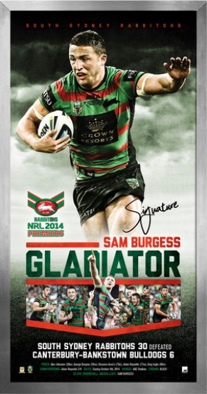 Gladiator - Sam Burgess 2014 South Sydney Premiership Display