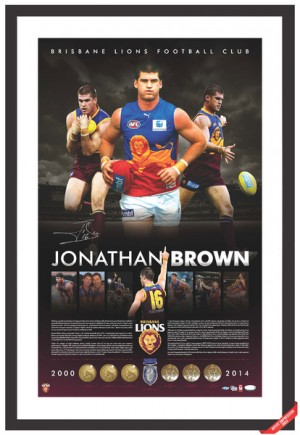 Jonathan Brown Brisbane Lions Retirement Limited Edition