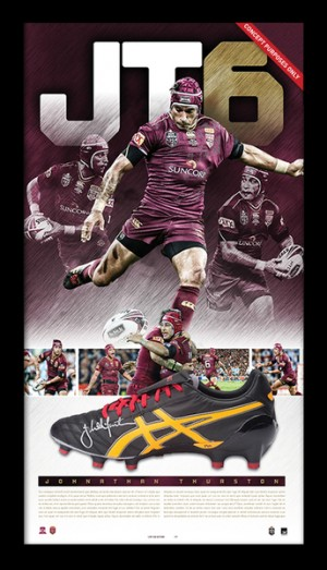 SOLD OUT! Johnathan Thurston Deluxe Signed Boot Display