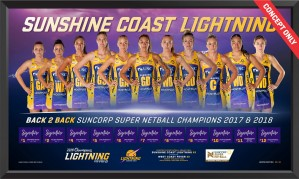 2018 Sunshine Coast Lightning Limited Edition Print